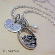 Swim Team Charm Necklace Personalized Hand by MadisonCraftStudio, $20.00