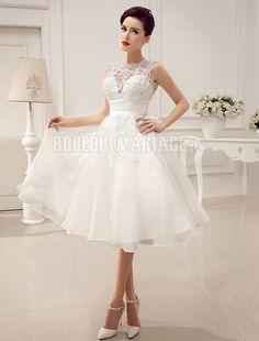 Robe de mariée civile dos nu Robe ornée de strass et d appliques    ROBE209197  60c294c15680