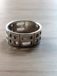 £25 - Etsy - Rennie Mackintosh design ring, sterling silver heavy band ring, chunky ring, suit mens or women, unisex