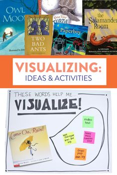 These visualizing activities and anchor charts help students create their own mental images to better comprehend the stories they are reading! Head over to the blog post to read about the activities and see some great books for visualizing.