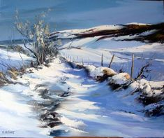 Best Landscaping Companies Near Me Watercolor Landscape, Landscape Art, Landscape Paintings, Watercolor Paintings, Winter Scenery, Winter Trees, Winter Art, Painting Snow, Winter Painting