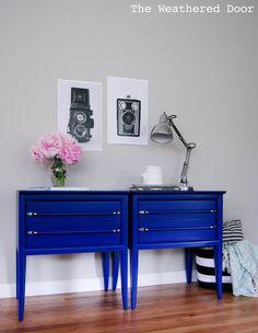Du bleu klein dans la maison
