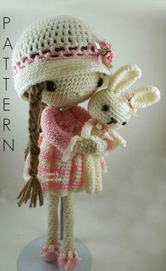 April - Amigurumi Doll Crochet Pattern PDF