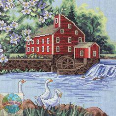 Red mill from www.crossstitchworld.com