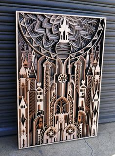 Recent work by California-based wood artist Gabriel Schama (previously). Gabriel has the incredible ability to create laser-cut relief sculptures embedded with beautifully intricate geometric patterns. Laser Art, 3d Laser, Laser Cut Wood, Laser Cutting, Lazer Cutter, Laser Cutter Projects, 3d Cnc, Gabriel, Grid Design