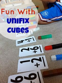 Making Math Fun With Unifix Cubes- a great way for kids to visualize and understand too!