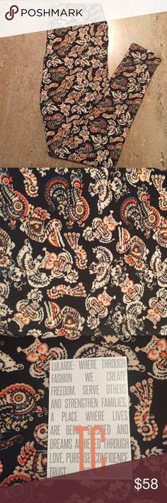 New TC LuLaRoe Unicorn Leggings Unicorn LuLaRoe TC leggings. Aztec Owl, Pelican, Rooster and Parrot print on black background. Fits sizes 12-24. The price reflects the rarity. Please no pricing questions in comments. Feel free to make an offer and ask about the leggings. No Trades. Happy Poshing LuLaRoe Pants Leggings