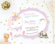 Unicorn Invitation  Rainbow Unicorn Birthday Invite  Magical