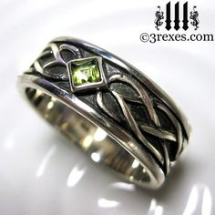 Mens Celtic knot silver soul ring, Gothic rings inspired by the Medieval wedding rings worn by Royalty.