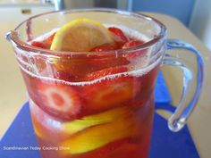Scandinavian Today Cooking Show: Strawberry Rhubarb Ice Tea a Summer Classic!