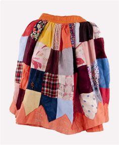 Bevrijdingsrok vervaardigd van diverse soorten textiel, gedragen in Tiel, 1945 Recycled Art, Ww2, 5 Mei, Sewing, Tweed, Skirts, Fabric, Clothes, Fashion