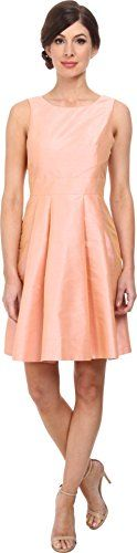 Donna Morgan Womens Gillian Shantung Dress With Open Back Salmon Rose 2 * Read more  at the image link.