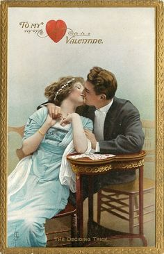 To my Valentine - vintage Valentine's Day card victorian love valentines card cards antique love sweet couple