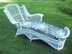 1000 images about bar harbor wicker on pinterest wicker for Antique wicker chaise
