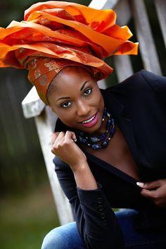 Beautiful #headscarf. Loved By NenoNatural! ~Latest African Fashion, African Prints, African fashion styles, African clothing, Nigerian style, Ghanaian fashion, African women dresses, African Bags, African shoes, Nigerian fashion, Ankara, Kitenge, Aso okè, Kenté, brocade. ~DKK