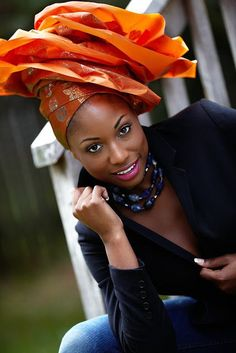 Beautiful #headscarf. Loved By NenoNatural! ~Latest African Fashion, African Prints, African fashion styles, African clothing, Nigerian style, Ghanaian fashion, African women dresses, African Bags, African shoes, Nigerian fashion, Ankara, Kitenge, Aso okè, Kenté, brocade. ~DKK