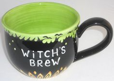 Lorrie Veasey Witch's Brew Coffee Mug Our Name is Mud Oversized Halloween VG Halloween Queen, Witches Brew, Cute Mugs, Coffee Cups, Brewing, Just For You, Tableware, Mud, Beans