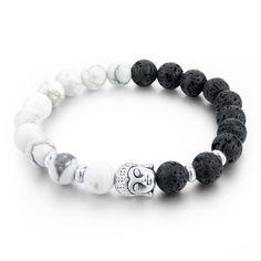 Unisex Natural Stone Beads Elastic Bracelets & Bangles - Multiple Colors Selections