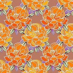 bold blossoms fabric from spoonflower by art_is_us