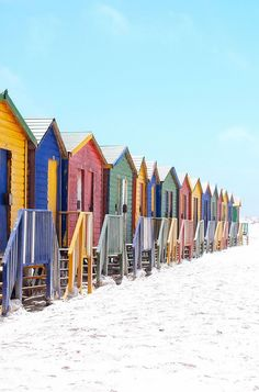 Muizenberg, South Africa | Compiling a list of all the places you should go in 2017! What are your travel plans next year?