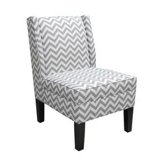 Chevron Wingback Chair need gray