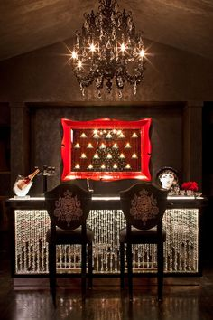 damask stools bar black walls denise richards home tour celebrity feature mansions crystal bareclectic-family-room