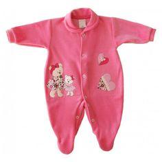 Macacão Longo de Bebê (Plush) – Ursinhas