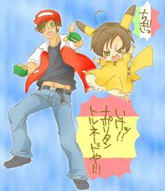 Spain and Chibi!Romano - Pokemon style
