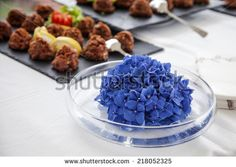 Appetizers on a wedding table - stock photo