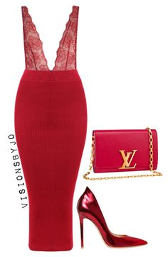 """Original Pin : """"Untitled #1536"""" by visionsbyjo on Polyvore featuring Fleur du Mal, Gianvito Rossi, Louis Vuitton, women's clothing, women, female, woman, misses and juniors"""