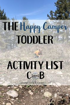 Happy Camper Toddler Activity List