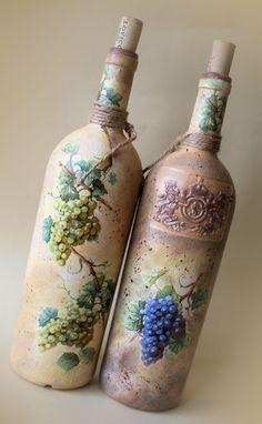 Altered Wine Bottles