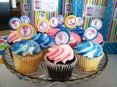 I added extra photos from the Lalaloopsy Bingo to the cupcakes.  I love my scrapbooking supplies!