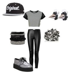 """""""Kpop Inspire outfit"""" by tonisha1994 ❤ liked on Polyvore featuring Burberry, T.U.K., 2b bebe, Joomi Lim, Bottega Veneta, KR3W, outfit, Inspired and kpop"""