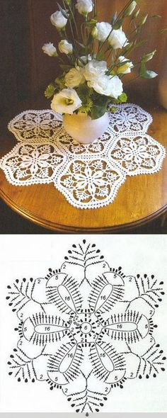 Captivating All About Crochet Ideas. Awe Inspiring All About Crochet Ideas. Crochet Mat, Crochet Dollies, Crochet Squares, Thread Crochet, Crochet Flowers, Crochet Stitches, Crochet Snowflake Pattern, Crochet Motif Patterns, Crochet Snowflakes