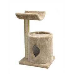 Molly and Friends Cat Cave with Sisal Post and Cradle Color: Brown, Poles Color: Medium Grey