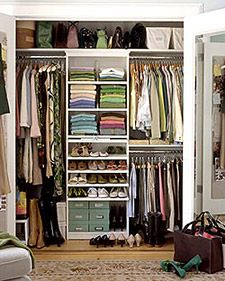 Create a custom closet for less with an outfitted bookcase