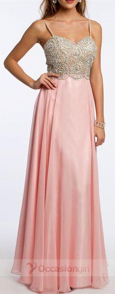 Elegant Spaghetti A-line Beading Long Pink Prom Dresses Prom Dresses Long Pink, Prom Dresses 2016, Prom 2016, Prom Dresses For Sale, Formal Dresses, Beaded Prom Dress, Long Shorts, Prom Party, Evening Party