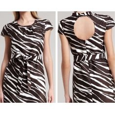 ♠️Kate Spade Dorothy Zebra Dress Only worn once! Embrace your wild side with this zebra-print kate spade new york dress. A keyhole back provides a sultry element you can show off with a messy bun or braid. Cream/coconut zebra-print sateen. Pleated-into banded scoop neckline; keyhole back. Cap sleeves. Self-tie cinches natural waist. Side-slash pockets at hip. Shift silhouette. Hidden back zip. kate spade Dresses