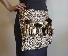 it's cheetah  and it is makeup brushes  what more could a girl ask for!!!!!!!!!!!