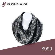 B/W infinity scarf Multicolored knit scarf. Colors are black and a white/ gray mixture. 100% acrylic. These are extremely soft and warm!  ⭐️This item is brand new with manufacturers tags or in original packaging. 🚫NO TRADES 💲Price is firm unless bundled 💰Ask about bundle discounts Accessories Scarves & Wraps