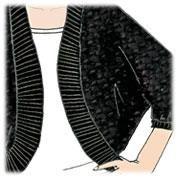 Slinky Shrug - Bolero, Strickjacke mit Fledermaus Ärmel