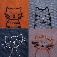 Easy Embroidery Stitches By Hand Tutorial within Hand Embroidery Stitches Tutorial For Beginners behind Easy Embroidery Stitches By Hand Tutorial; Easy Way To Remove Embroidery Stitches Embroidery Stitches Tutorial, Cute Embroidery, Machine Embroidery Patterns, Hand Embroidery Designs, Embroidery Techniques, Cross Stitch Embroidery, Embroidery Sampler, Embroidery Ideas, Knitting Stitches