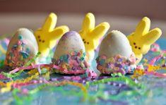 Hide bunnies behind Oreo truffle eggs to make peeking Peeps. | The 22 Best Ways To Eat Easter Peeps