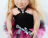 """2-Piece Sweetly Pink Tutu Outfit for 18"""" Dolls - Fits American Girl Dolls. $9.00, via Etsy."""