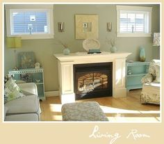 Contemporary Living Room Colors softer than red or orange, we love this terra cotta room paint