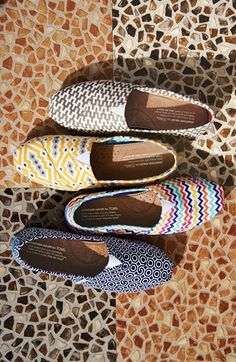 super cute collaboration of toms and jonathan adler For more please visit: http://www.flyfreshforever.com