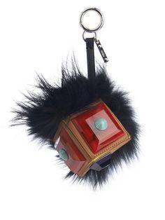 FENDI Geny fox-fur and plexiglass bag charm Fendi Fur, Closet Accessories,  Couture fa6ea905c2