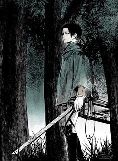 SnK | Shingeki no Kyojin | AOT | Attack on Titan | Levi Ackerman | Anime | Fanart | SailorMeowMeow