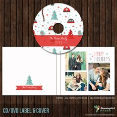 Christmas / Holiday CD/DVD Label and Single by TheHummingbirdPress, $8.00